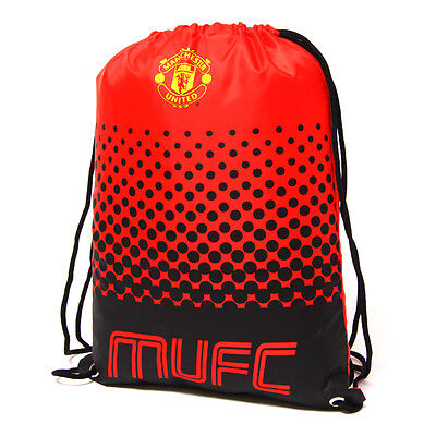 Manchester United Fc Fade Gym Bag Pe School Swimming Sport New Xmas Gift • 8.97£
