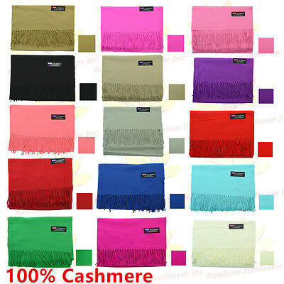 $34.99 • Buy Wholesale Lot 100% CASHMERE Scarf Pure Solid Colored Wool SCOTLAND Men Women