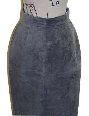 $ CDN56.48 • Buy Danier Women Gray Suede Pencil Skirt 10 / 27 Inches Made In Canada Lined