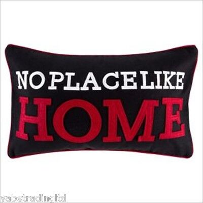 £9.99 • Buy Black Multi No Place Like Home Cushion Modern Pillow Ideal For Lounge Bedroom