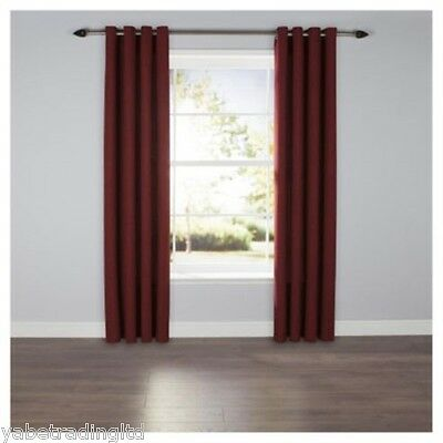 £26.99 • Buy Red Plain Textured Lined Eyelet Curtains 64  X 72  Bedroom Lounge New Drapes