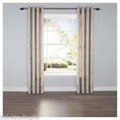 £19.99 • Buy Linden Grey Lined Eyelet Curtains 64  X 54  Bedroom Lounge New Drapes Decor