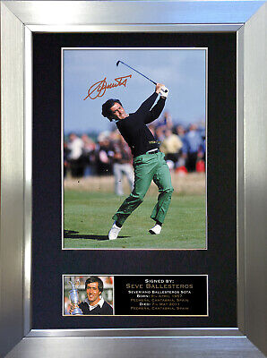 SEVE BALLESTEROS Signed Autograph Mounted Photo Repro A4 Print 53 • 17.99£