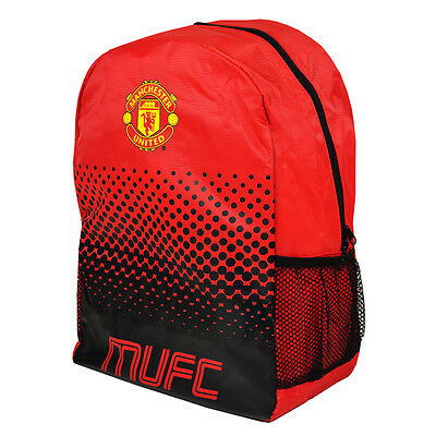Manchester United Fc Large Fade Backpack School Bag Kids Adult New Xmas Gift • 15.97£