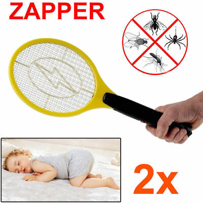 AU15.46 • Buy 2x Electric Fly Swatter Mosquito Bug Insect Kill Zapper Racket AU Ship