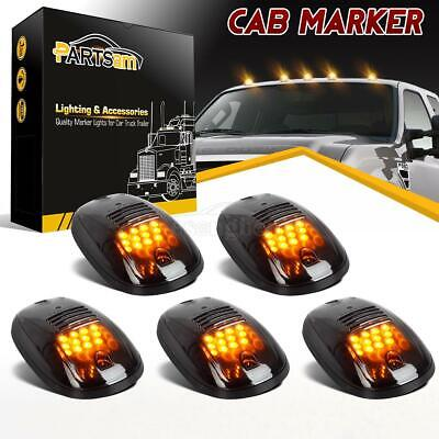 $42.88 • Buy 5pc Smoke Cab Roof Marker Lights Yellow For Dodge Ram 2500 3500 4500 2003 - 2019