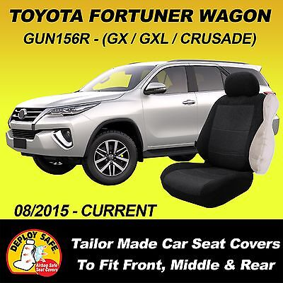 AU175 • Buy Car Seat Covers For Toyota Fortuner 7 Seater, 3 Rows 08/2015-Current Airbag Safe