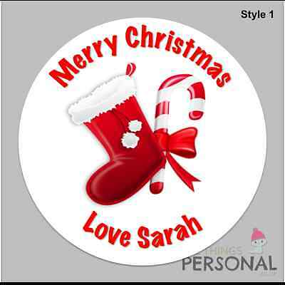 £2.99 • Buy Personalised Christmas Stickers Present Labels Santa Gift Tags Xmas
