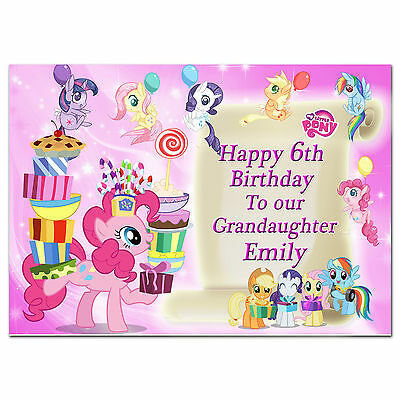 379 Pink; Large Personalised Birthday Card; Made For Any Name; My Little Pony • 3.75£
