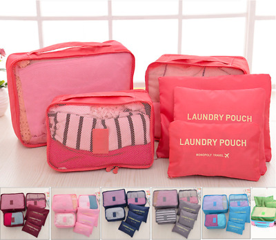AU12.99 • Buy 6PCS Travel Luggage Suitcase Organiser Packing Cubes Set Bags Backpack Pouches