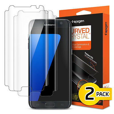 $ CDN29.99 • Buy Spigen Curved Crystal Screen Protector Protection Flim For Samsung Galaxy S7Edge