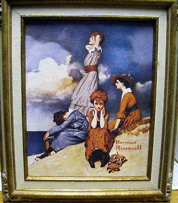 $ CDN46.02 • Buy New Norman Rockwell Waiting On The Shore Reproduction Print Canvas Painting