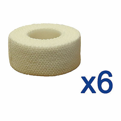 6x CMS Medical 2.5cm Professional Sports Strapping Tape Elastic Adhesive Bandage • 12.69£