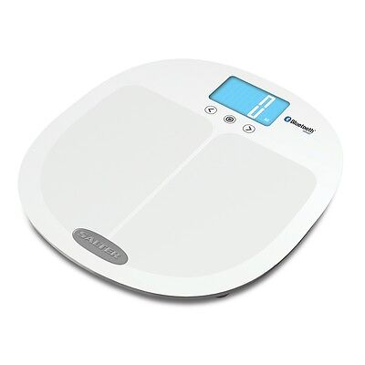 £39.99 • Buy Salter Curve Bluetooth Smart Analyser Electronic Digital Bathroom Scales White