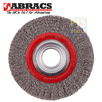 $ CDN31.95 • Buy Abracs 150mm X 20mm Bore 6in Stainless Steel Crimped Wire Bench Grinder Wheel