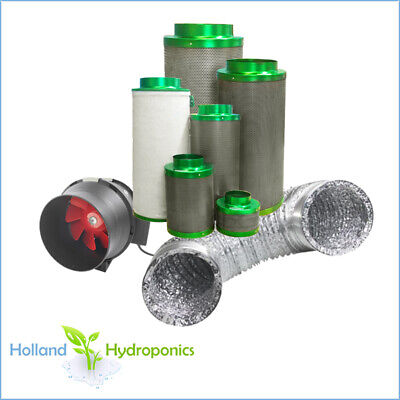 AU349.90 • Buy Quiet Ventilation Fan Carbon Filter  Kit Hydroponics Air Control 4  5  6  8