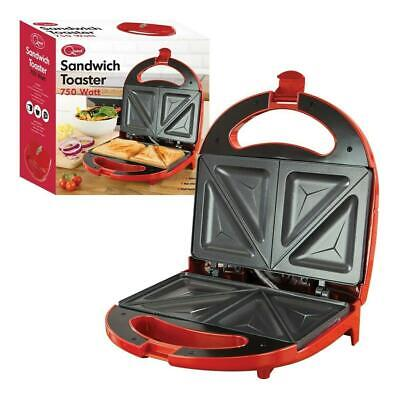 Sandwich Maker Toaster Toastie Maker Panini Press Health Grill Griddle RED NEW • 14.75£
