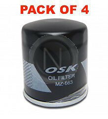 AU48.27 • Buy OSAKA Oil Filter Z663 - For Holden Commodore VE VF 6.0L 6.2L - BOX OF 4