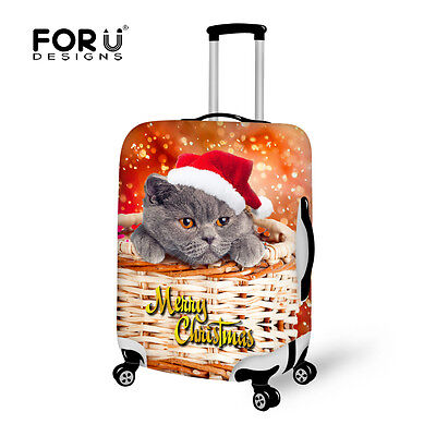 Chrismas L/M/S Luggage Cover Protective Covers Elastic Suitcase Bag Animal Style • 20.99£