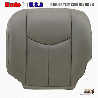 $97.48 • Buy 2005 2006 Chevy Silverado 2500HD Duramax Leather Seat Cover GRAY - Driver Side