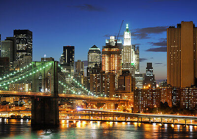 £12.54 • Buy New York City Hd New A3 Canvas Giclee Art Print Poster