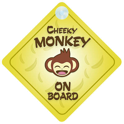 £3.53 • Buy Cheeky Monkey On Board Car Sign New Baby/Child Gift/Present
