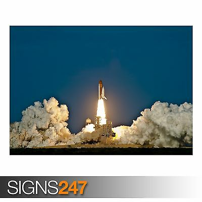 SPACE SHUTTLE DISCOVERY LAUNCH (4037) Photo Picture Poster Print Art A0 To A4 • 14.75£