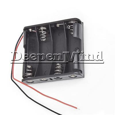 AU1.39 • Buy 4 X AA 6.0V Plastic 4AA Battery Case Storage Box Holder With Wire Leads