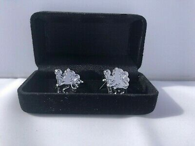 £6.99 • Buy Chelsea Cufflinks - Chrome Cuff Links In Gift Box - Ideal Gift