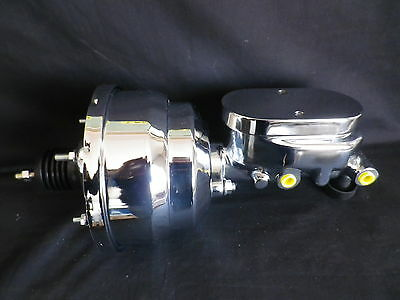 AU178 • Buy Brake Booster 7 Inch Dual Diaphragm Inc Master Cyl Smooth Top 1 Inch Bore Chrome