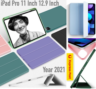 AU22.99 • Buy Year 2021 IPad Pro 12.9 Inch Pro 11 Inch Smart Cover Pencil Holder Case TPU Back