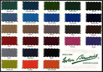 AU338.21 • Buy Simonis 860 Pool Table  Billiard Cloth - Felt - 7 Foot Choose Color - Free Chalk