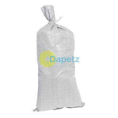 10Pk Sand Bags 750 X 330mm 80Gsm Woven Material Sandbags Tie String Included • 8.74£