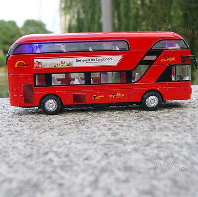 $ CDN21.28 • Buy Bus Model Cars 1:48 Tour London Double Decker Diecast Sound&Light Toy Gift Red