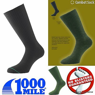 1000 Mile Quality Military Combat Socks Blister Free Army Hiking Walking Socks • 9.99£