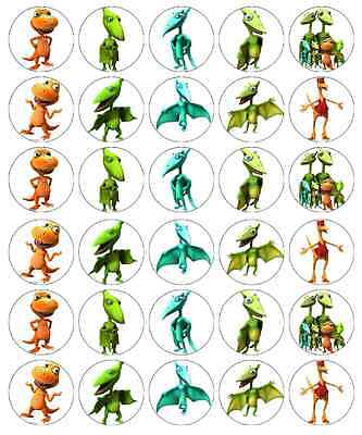 30 X Dinosaur Train Edible Cupcake Toppers Wafer Paper Fairy Cake Topper • 1.77£