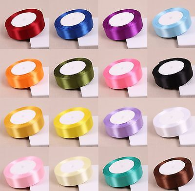 Quality Reels Satin Ribbon Roll Lengths Width 10,15,25 & 38mm Gift Box Christmas • 0.99£