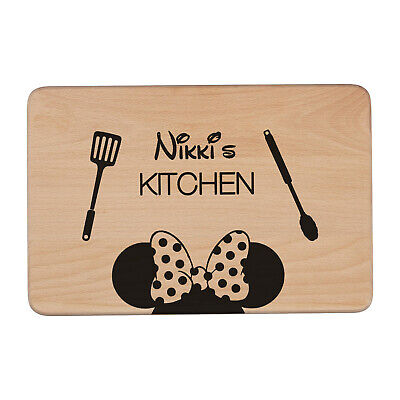 Personalised Minnie Mouse Disney Laser Engraved Chopping Board | Kitchen Gift • 11.99£