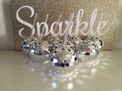 New Years Eve Party Disco Ball Cup Sparkle Glitter Confetti Photo Booth Decor • 9.37£