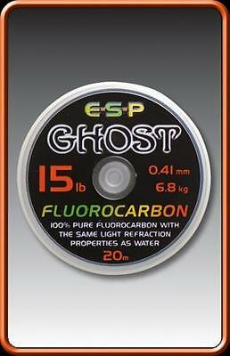 Brand New Esp Ghost Fluorocarbon -  Carp Fishing Line • 8.29£
