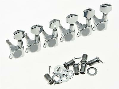 $ CDN11.32 • Buy Left Handed 6 Inline Guitar Tuners Tuning Key Lefty Machine Heads For Strat Tele