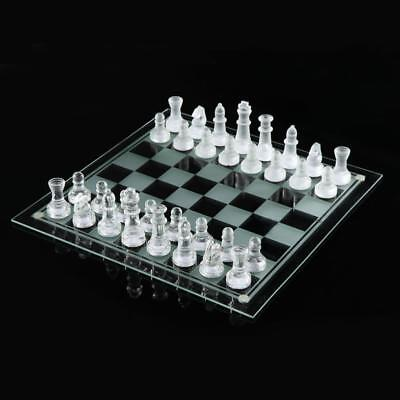 £19.98 • Buy Glass Board Traditional Chess Set Game Unique Beautiful Gift 32 Pieces Fun Party