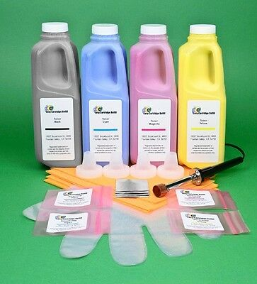 £71.97 • Buy 4-Color Toner Refill Kit With Hole-Making Tool & Chips For HP CP5520 CP5525 M750
