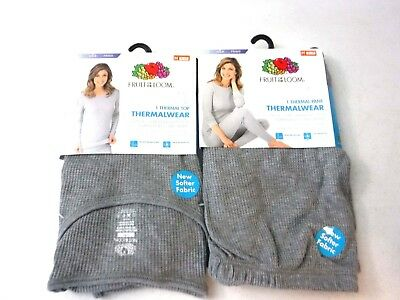 $9.99 • Buy Pair Of FRUIT OF THE LOOM Classic Soft Thermal Wear Grey Top & Bottom  []