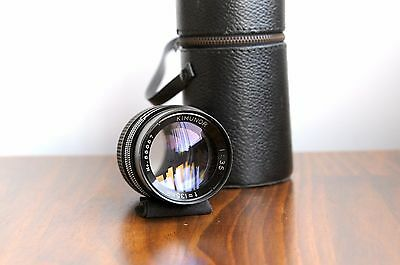 AU129.95 • Buy KIMUNOR 135mm F/3.5 For Pentax M42 Screw Mount W/ Leather Case *Smooth Aperture!