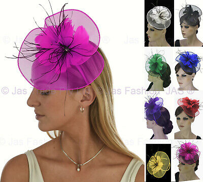 AU18.98 • Buy Spring Racing Race Party Melbourne Cup Feather Headband Hairband Clip Fascinator