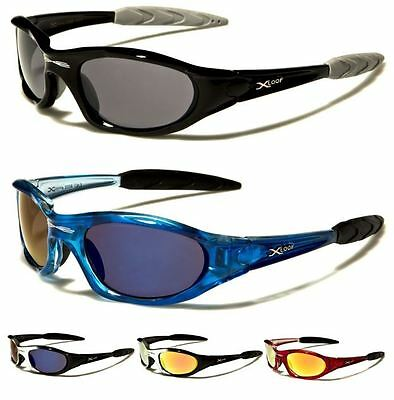 X-loop Mens Womens Boys Sport Biker Running Black Wrap Designer Sunglasses Uv400 • 7.99£