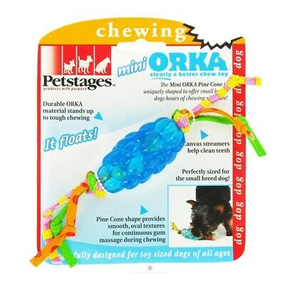 £4.33 • Buy Petstages Mini Orka Pine Cone Teething Chew Toy For Small Dogs