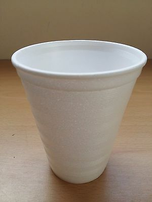 100 X 12oz Foam Polystyrene Cups Disposable Hot Cold Drinks Juice Tea Cheap! • 11.51£