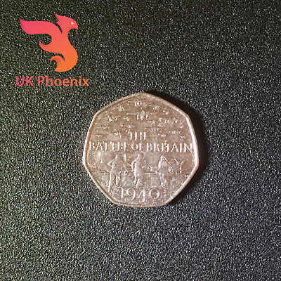 75th Anniversary 2015 THE BATTLE OF BRITAIN Fifty Pence 50p Coin Royal Hunt Rare • 3.99£